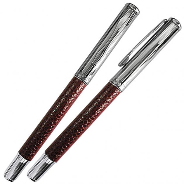 NO.14 紅皮革鋼珠筆 1